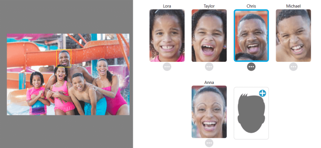 Tag That Photo Face Recognition Banner showing software recognizing person